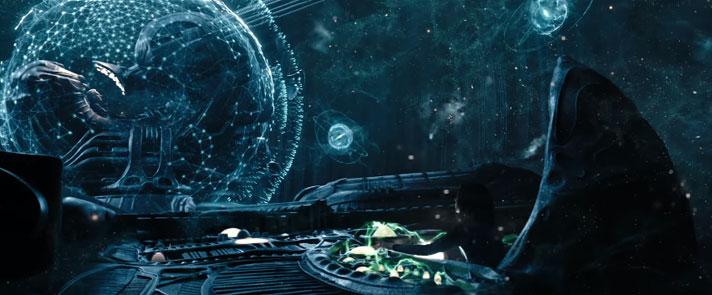 エンジニアの宇宙船で協力して作業を行うエリザベスとデヴィッド