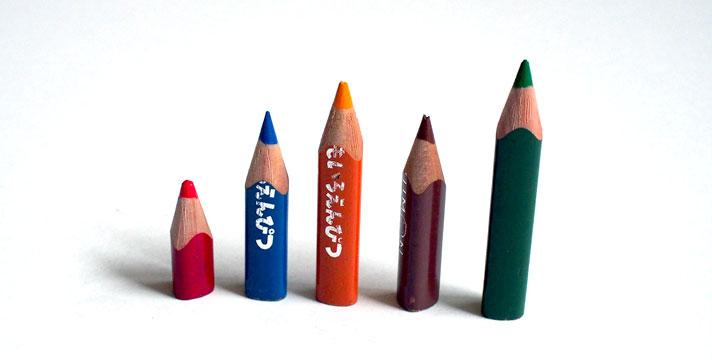 縮んだくもん色鉛筆